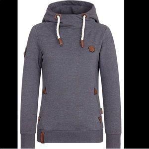 NWT women's naketano grey hoodie large